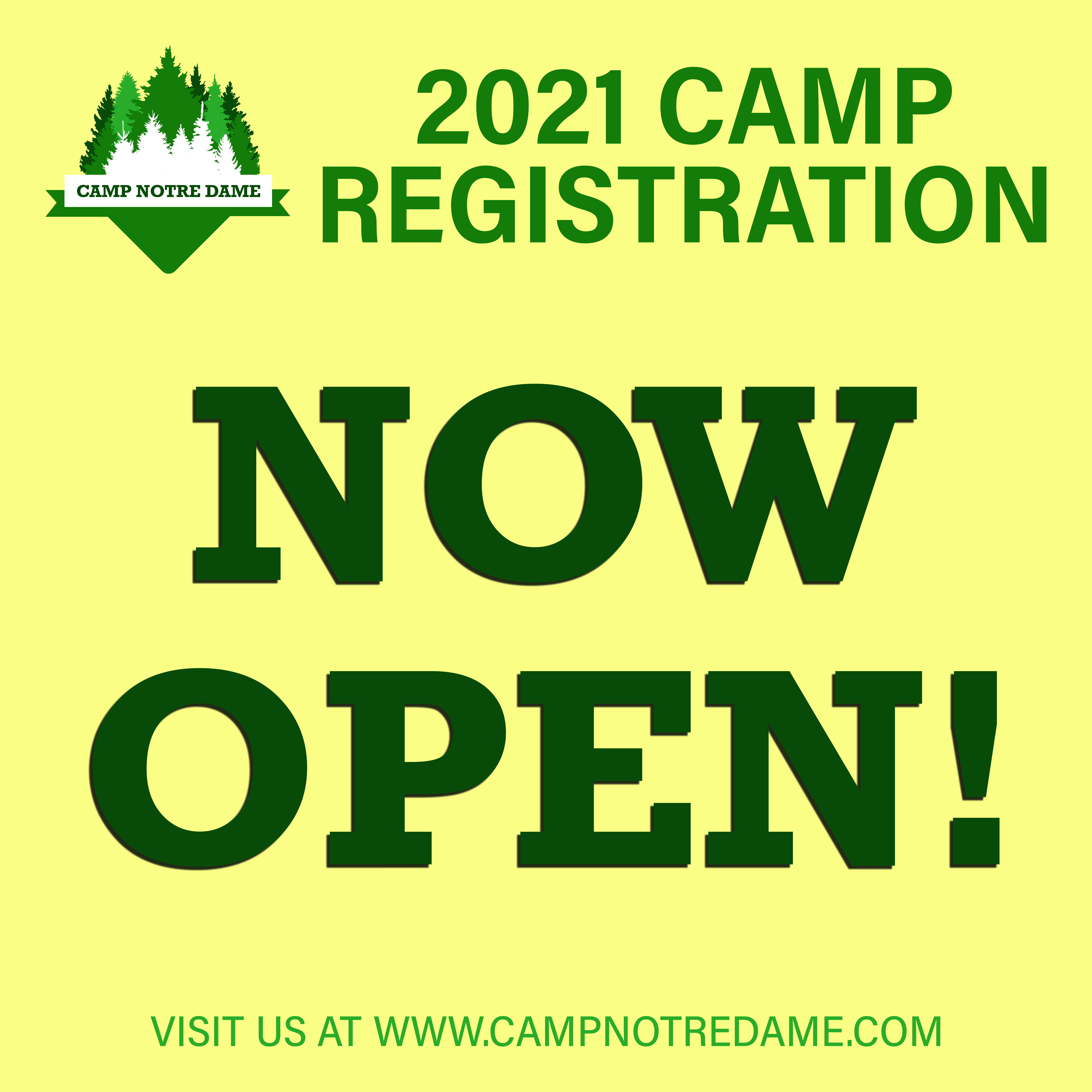 2021 Camp Registration is Open!
